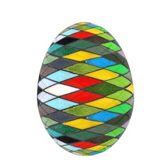 Easter Egg with colored strokes Isolated on white