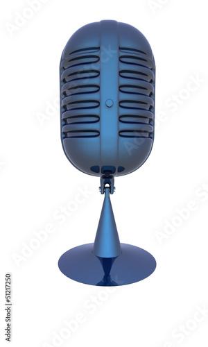 blue metal microphone