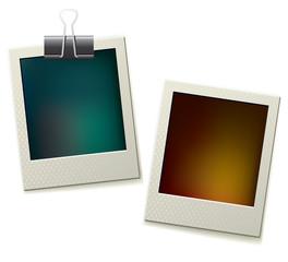 Two polaroid pictures