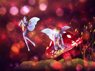 Magic mushroom fairy
