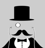 gentleman with top hat and earphones