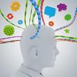 Mensch und Information / Informationsflut - 3D Illustration