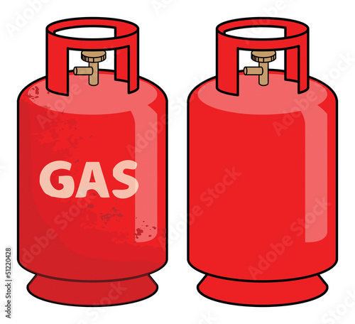 Propane gas cylinder, vector illustration