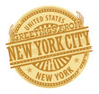 Grunge stamp with text Greetings from New York City, vector
