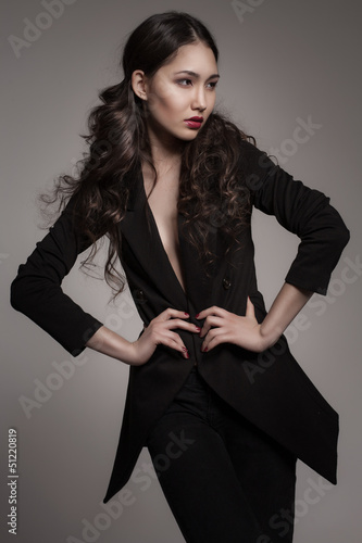 fashion portrait of young asian woman