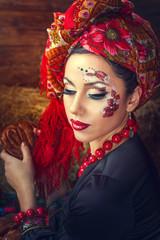 Portrait of a Russian beauty Solokha