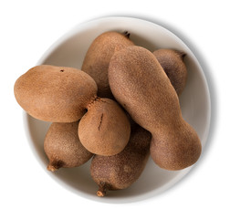 Tamarind in plate isolated