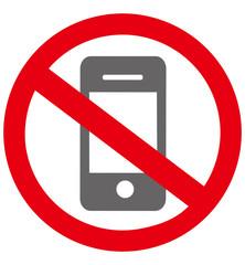 No smartphone sign Vector