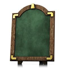 Cartello Lavagna verde in legno vecchio