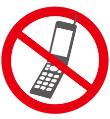 No mobile phone sign Vector
