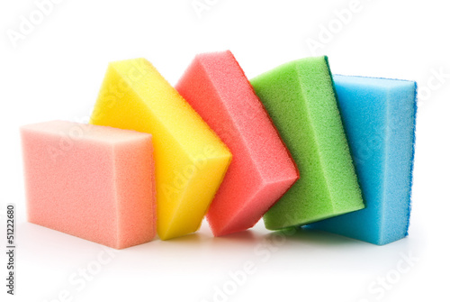 double side cleaning sponges line up