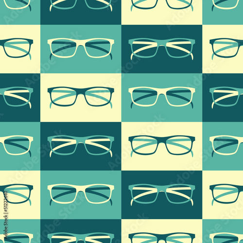 Retro Glasses Background