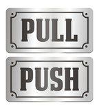 pull and push - door signs