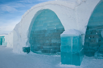 Ice hotel, in the north of Sweden