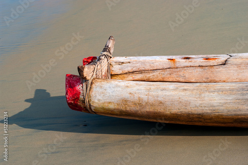 Indian wooden boat