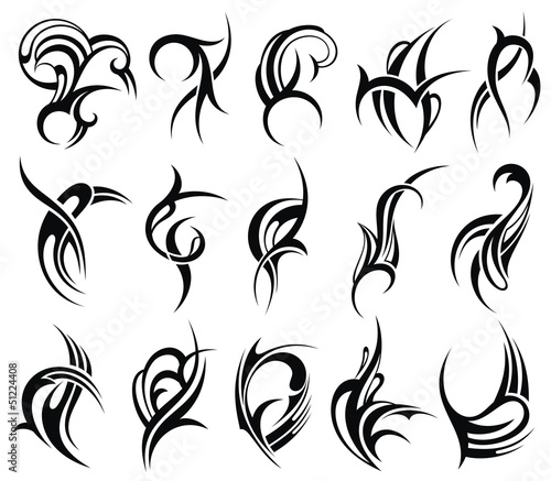 Tribal tattoo element design