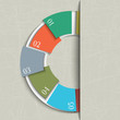 Half circle design template for infographics