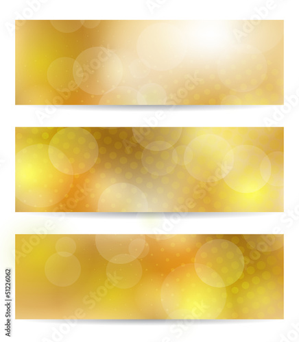 Yellow banner set