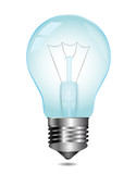 Light bulb. Vector.