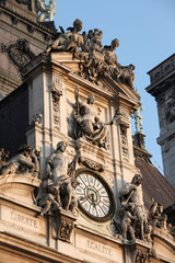 Clock at the Town Hall of Paris (Hotel de Ville)