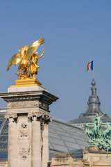 Pont Alexandre III and Grand Palais in Paris
