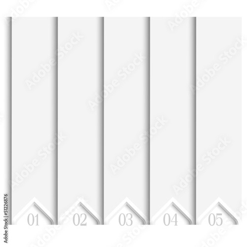 3d white numbered banners