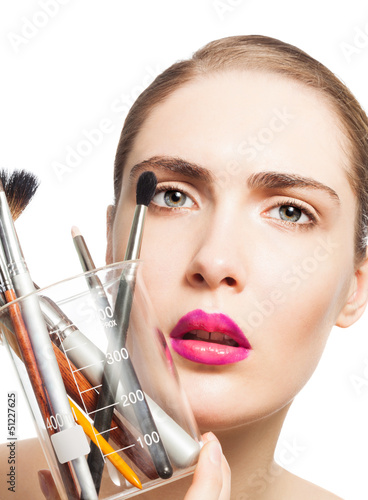 Science and makeup beauty