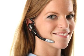 Geschäftsfrau mit Headset