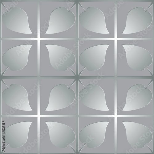 silver pattern with leaves