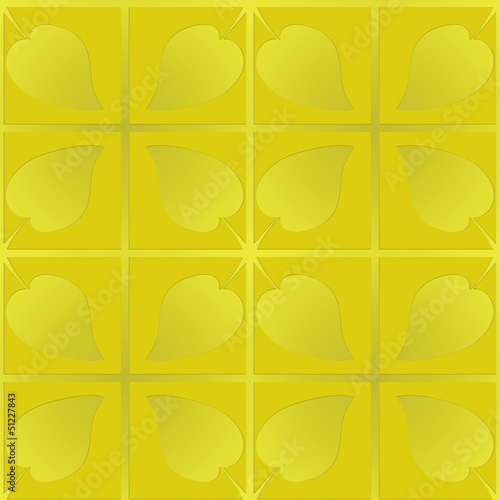 golden pattern with leaves