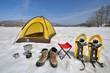 雪原のテントキャンプ B