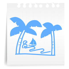 sea cartoon_on paper Note