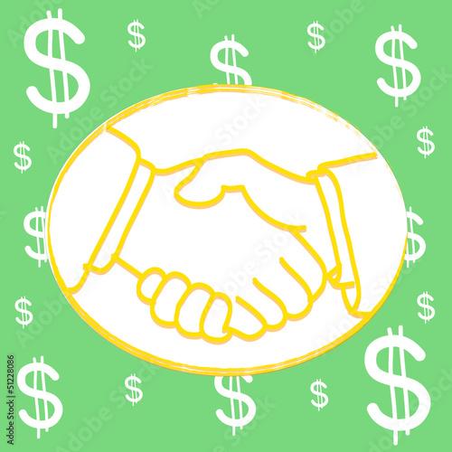 shakehand dollar Background