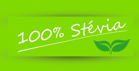 Étiquette 100% Stévia