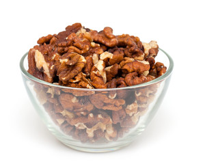 walnuts in a glass bowl
