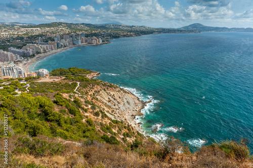 Mediterranean coast, high view
