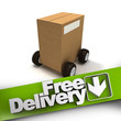 Free delivery, box on wheels