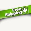 Free shipping diagonal banner