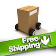 Free shipping, box on wheels