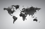 World map with 3d-effect - 51229622