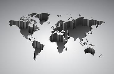 World map with 3d-effect © Ildogesto