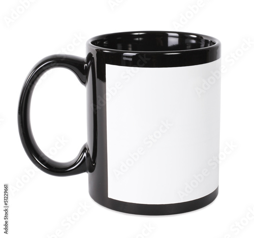 Black and white mug for printing