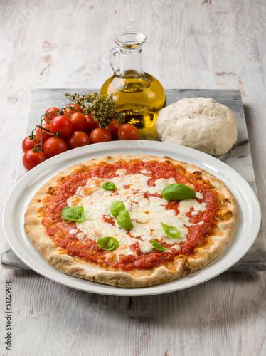 margherita pizza with buffalo mozzarella