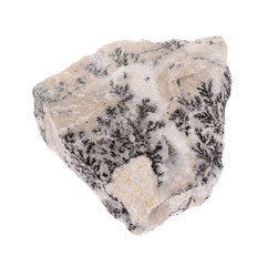 Mineral psilomelan isolated on a white background