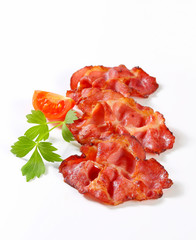 Crispy slices of bacon