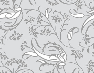 Seamless traditional designer wallpaper