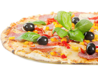 Pizza isolated on white