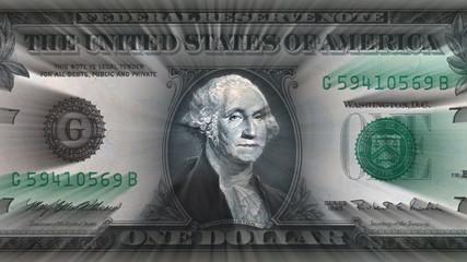 US Dolar Bill with Light Rays