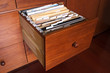 Wooden file cabinet