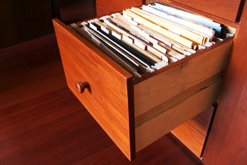 File cabinet - Wood